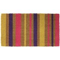 JVL 40x70cm Bright Prints Latex Backed Doormat - Stripes