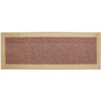 JVL 57x180cm Madras Entrance Door Runner Mat - Red/Beige