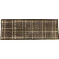 JVL 57x150cm Mega Washable Runner Mat - Brown Checkered