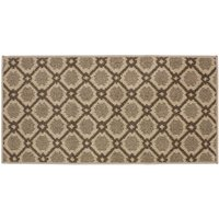 JVL 57x110cm Florence Entrance Runner Mat - Brown/Beige