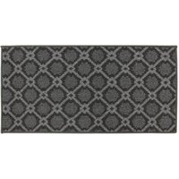 JVL 57x110cm Florence Entrance Runner Mat - Grey/Black