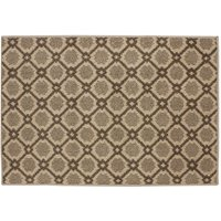 JVL 80 x 120cm Florence Entrance Runner Mat - Brown/Beige