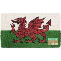 JVL Cymru Welsh Dragon Entrance Door Mat - 40x70
