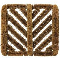 JVL 35x30cm Boston Natural Coir Scraper Doormat