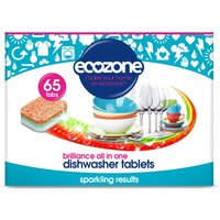 Ecozone Brilliance All in One Dishwasher Tablets - Pack of 65