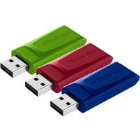 Verbatim 16GB USB Drives 3 Pack - Red, Blue and Green