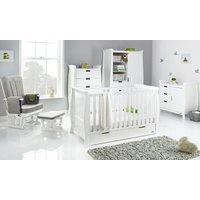Obaby Stamford Classic Sleigh 5 Piece Room Set - White
