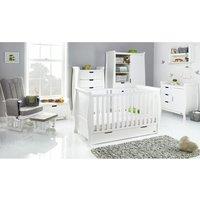Obaby Stamford Classic Sleigh 7 Piece Room Set - White