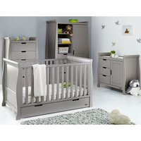 Obaby Stamford Classic Sleigh 4 Piece Room Set - Taupe Grey