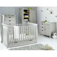 Obaby Stamford Classic Sleigh 4 Piece Room Set - Warm Grey