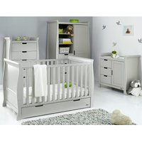 Obaby Stamford Classic Sleigh 4 Piece Room Set - Warm Grey