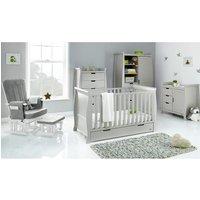 Obaby Stamford Classic Sleigh 5 Piece Room Set - Warm Grey