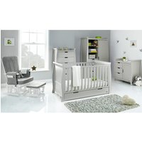 Obaby Stamford Classic Sleigh 5 Piece Room Set - Warm Grey