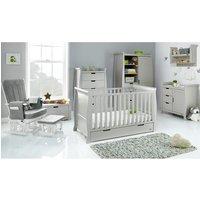 Obaby Stamford Classic Sleigh 7 Piece Room Set - Warm Grey