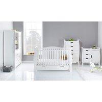 Obaby Stamford Luxe Sleigh 4 Piece Room Set - White