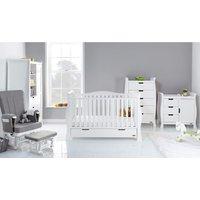 Obaby Stamford Luxe Sleigh 5 Piece Room Set - White