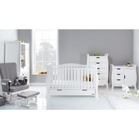 Obaby Stamford Luxe Sleigh 5 Piece Room Set - White