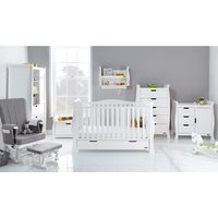 Obaby Stamford Luxe Sleigh 7 Piece Room Set - White