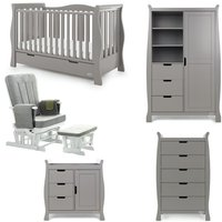 Obaby Stamford Luxe Sleigh 5 Piece Room Set - Taupe Grey