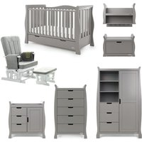 Obaby Stamford Luxe Sleigh 7 Piece Room Set Taupe Grey