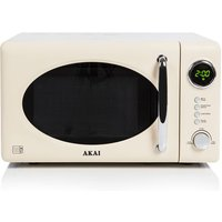 Akai 700W 20L Digital Solo Microwave - Cream