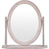 Innova Bella Oval Dressing Table Mirror Driftwood - 46 x 49 x 12 cm