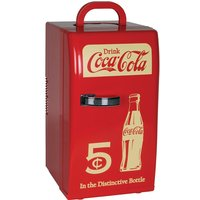 Koolatron Coca-Cola CCR-12 18-Can Retro Electric Cooler - Red and White