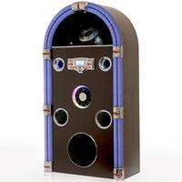 Steepletone Jive Swing Ninety Bluetooth Floor Standing Jukebox with Radio, CD Player, MP3 & Aux-in Playback - Dark Wood