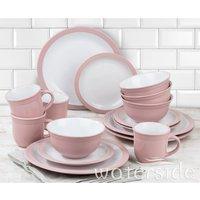 The Waterside 16pc Camden Dinner Set - Pink