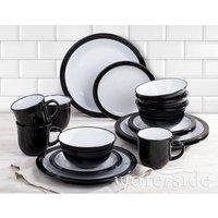 The Waterside 16pc Camden Dinner Set - Black