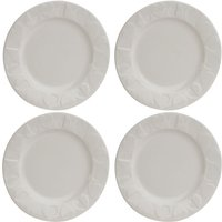 Beau & Elliot Embossed Side Plate Set of 4 - White