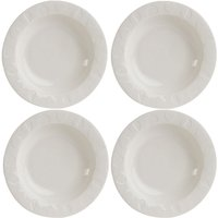Beau & Elliot Embossed Pasta Bowl Set of 4 - White