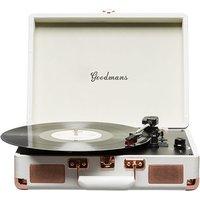 Goodmans Ealing Portable Briefcase Turntable - Cream