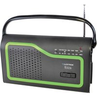 Lloyton Lloytron Ibiza AM/FM Portable Radio with 4 Coloured Facia Panels - Black