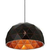 Premier Housewares Mateo Medium Dome Pendant Light - Black