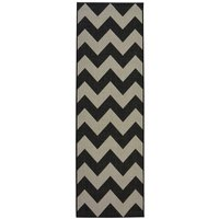 Homemaker Chevron Runner Rug - Black and White