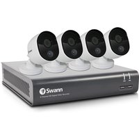 Swann 8 Channel 1080p Security System: DVR-4580 with 1TB HDD + 4x Thermal Sensing Cameras