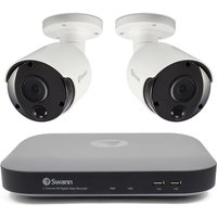 Swann 4 Channel 5MP Security System: DVR- 4980 with 1TB HDD + 2x Thermal Sensing Cameras