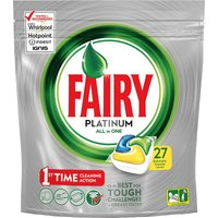 Fairy Platinum All In One Dishwasher Tablets - 27 Capsules