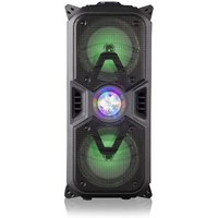 AKAI 20W RMS Party Speaker with Colour Changing Disco Lighting - Black