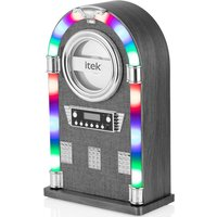 Itek Fabric Bluetooth Jukebox with CD Player - Ash Grey
