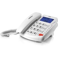 Itek Big Button LCD Telephone - White
