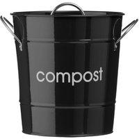 Premier Housewares Compost Bin With Plastic Inner Bucket - Black