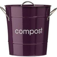 Premier Housewares Compost Bin With Plastic Inner Bucket - Purple