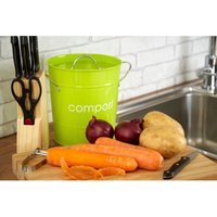 Premier Housewares Compost Bin With Plastic Inner Bucket - Lime Green
