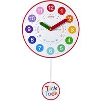 Acctim Matilda Kids MDF Pendulum Wall Clock - White