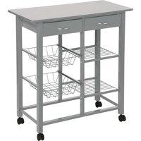 Hahn 5five Double Kitchen Trolley - Grey
