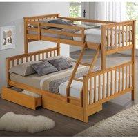 The Artisan Bed Company Three Sleeper with Flat Headboard - Beech