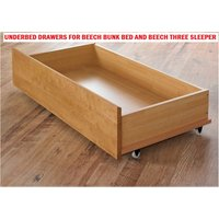 The Artisan Bed Company Beech Underbed Drawers  2pk