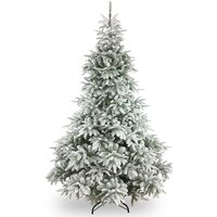 6ft National Tree Company Frosted Andorra Feel Real Fir Christmas Tree